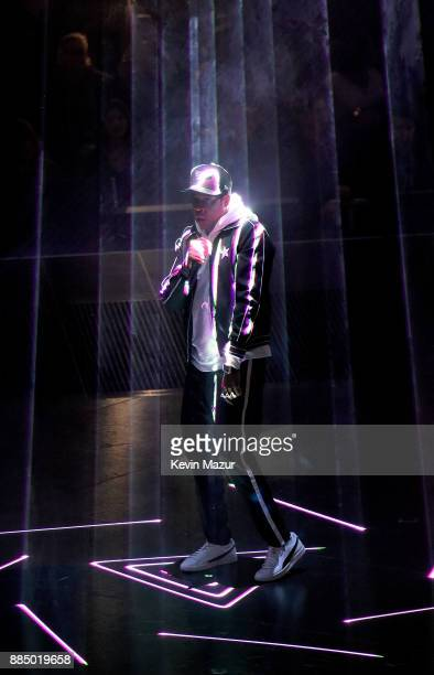 JayZ performs during his '444 Tour' at Nassau Veterans Memorial Coliseum on December 2 2017 in Uniondale New York