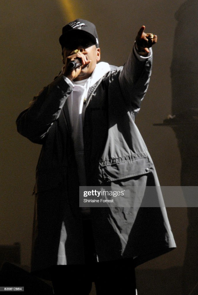 Jay-Z performs live on stage headlining during V Festival 2017 at Weston Park on August 19, 2017 in Stafford, England.