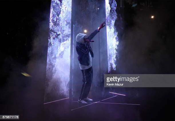 JayZ performs onstage during his 444 tour at Barclays Center of Brooklyn on November 26 2017 in New York City