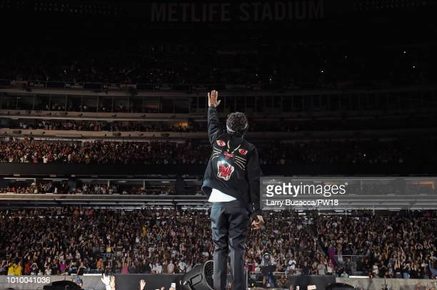 JayZ performs onstage during the On The Run II Tour New Jersey at MetLife Stadium on August 2 2018 in East Rutherford New Jersey