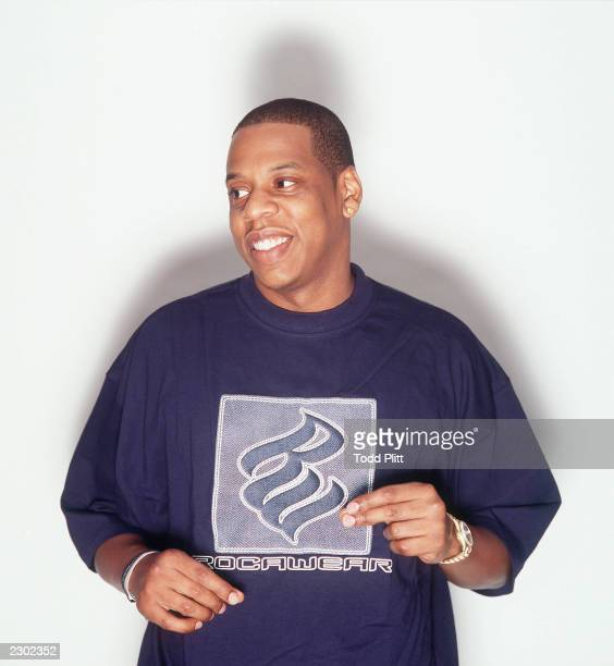 JayZ poses for a portrait wearing clothes from his RockaFella line in New York City on August 23 2001 Photo by Todd Plitt/Getty Images