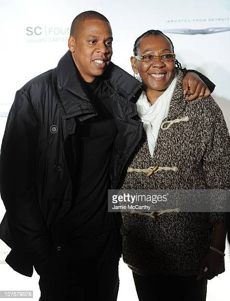 JayZ poses with his mother Gloria Carter during an evening of Making The Ordinary Extraordinary hosted by The Shawn Carter Foundation at Pier 54 on...