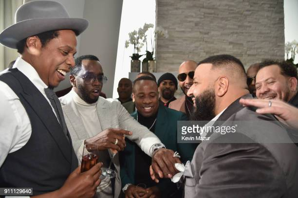 JayZ Sean Diddy Combs Swizz Beatz and DJ Khaled attend Roc Nation THE BRUNCH at One World Observatory on January 27 2018 in New York City