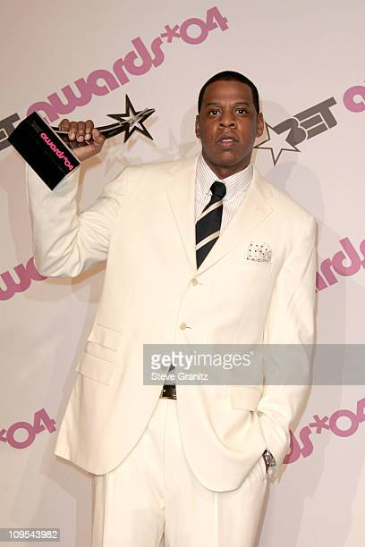 JayZ winner of Best Male HipHop Artist during 4th Annual BET Awards Press Room at Kodak Theatre in Hollywood California United States