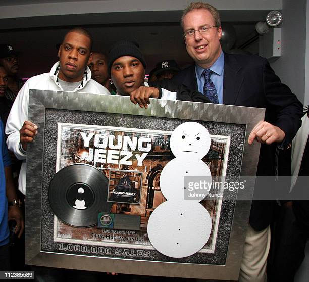 Jay-Z, Young Jeezy and Steve Bartels during Young Jeezy's Birthday Party - October 12, 2005 at 40 - 40 Resturant in New York City, New York, United...