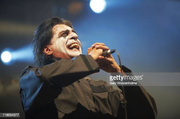 Jaz Coleman of Killing Joke performs on stage during the first day of Sonisphere 2011at Knebworth House on July 8 2011 in Stevenage United Kingdom