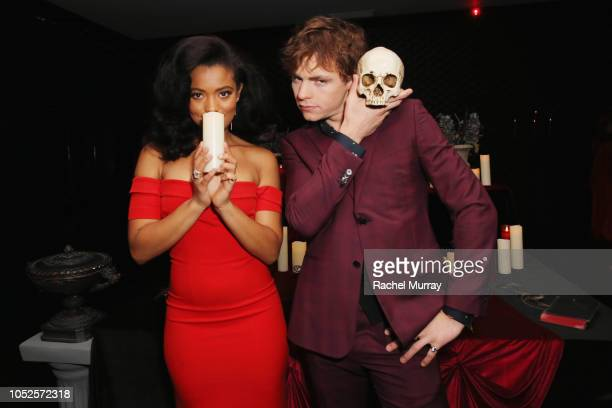 Jaz Sinclair and Ross Lynch attend Netflix Original Series Chilling Adventures of Sabrina red carpet and premiere event on October 19 2018 in Los...