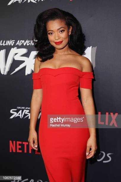 Jaz Sinclair attends Netflix Original Series Chilling Adventures of Sabrina red carpet and premiere event on October 19 2018 in Los Angeles California
