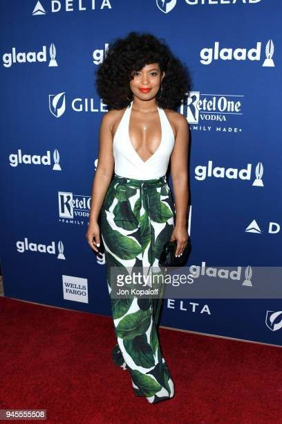 Jaz Sinclair attends the 29th Annual GLAAD Media Awards at The Beverly Hilton Hotel on April 12 2018 in Beverly Hills California