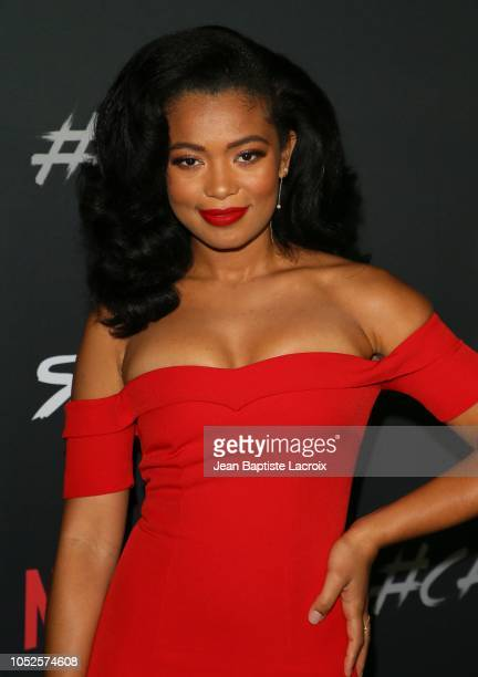 Jaz Sinclair attends the premiere of Netflix's 'Chilling Adventures of Sabrina' at Hollywood Athletic Club on October 19 2018 in Hollywood California