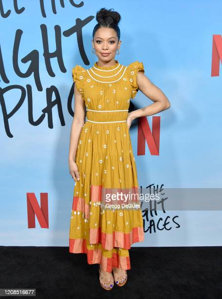 Jaz Sinclair attends the Special Screening Of Netflix's All The Bright Places at ArcLight Hollywood on February 24 2020 in Hollywood California