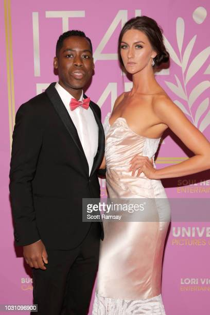 Jaze Bordeaux and Avaah Blackwell attend The Italian Party during 2018 Toronto International Film Festival celebrating Excelsis movie at Aqualina at...