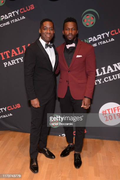 Jaze Bordeaux and Emmanuel Kabongo attend the Italian Party Club at TIFF 2019 at Artscape Daniels on September 10 2019 in Toronto Canada