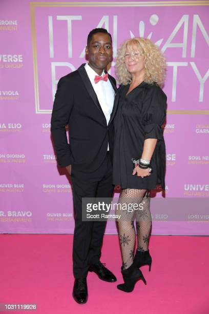 Jaze Bordeaux and Gigi B attend The Italian Party during 2018 Toronto International Film Festival celebrating Excelsis movie at Aqualina at Bayside...