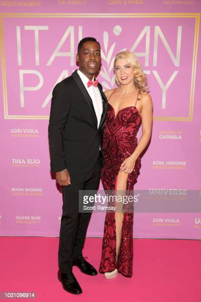 Jaze Bordeaux and Karlee Rose attend The Italian Party during 2018 Toronto International Film Festival celebrating Excelsis movie at Aqualina at...