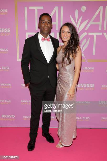 Jaze Bordeaux and Kathryn Aboya attend The Italian Party during 2018 Toronto International Film Festival celebrating Excelsis movie at Aqualina at...