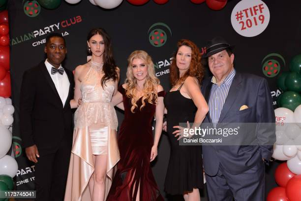 Jaze Bordeaux Avaah Blackwell Karle Rosee Stephanie Jones and Gino Bravo attend the Italian Party Club at TIFF 2019 at Artscape Daniels on September...