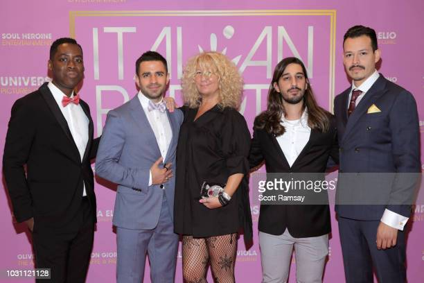 Jaze Bordeaux Nabil Dalle Gigi B Rocco Farella and Alex Cruz attend The Italian Party during 2018 Toronto International Film Festival celebrating...