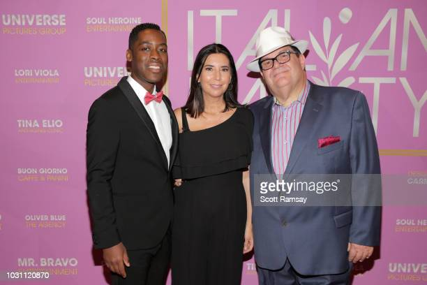 Jaze Bordeaux Susan Helfrich and Gino Bravo attend The Italian Party during 2018 Toronto International Film Festival celebrating Excelsis movie at...