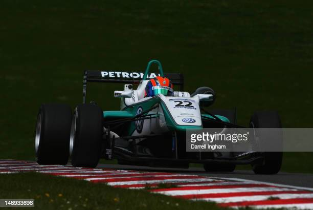 Jazeman Jaafar of Malaysia drives the Petronas Carlin Dallara F312 Volkswagen during practice for the Cooper Tires British Formula 3 Championship...