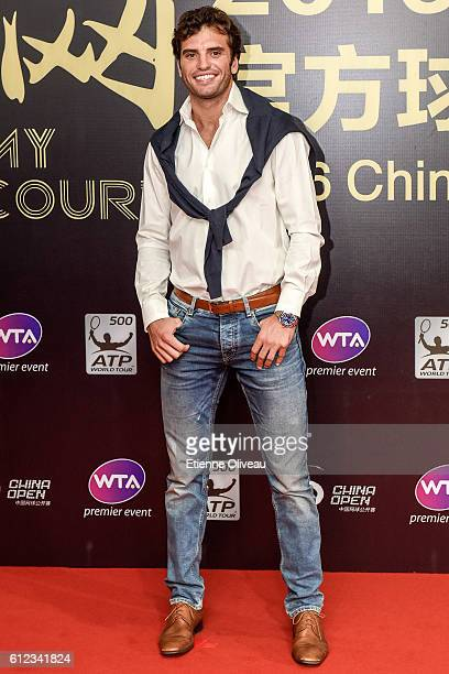 Jaziri Malek of Tunisia arrives at the 2016 China Open Player Party at The Birds Nest on October 3 2016 in Beijing China