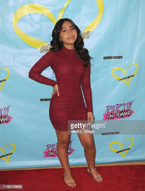 Jazlyn G attends the Release Party For Dani Cohn And Mikey Tua's Song Somebody Like You held at The Industry Loft on June 8 2019 in Los Angeles...
