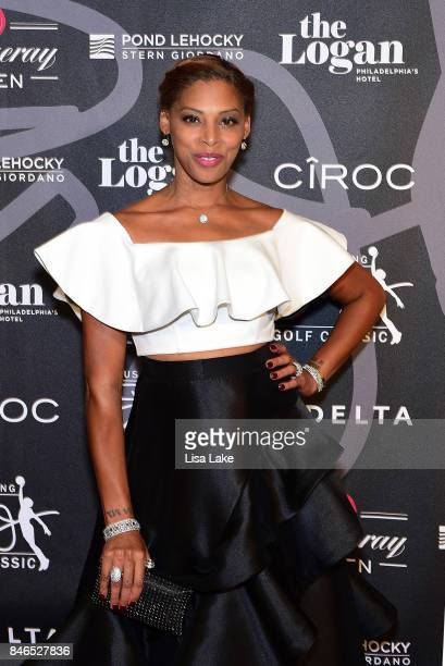 Jazmin Erving attends the Erving Golf Classic Black Tie Ball sponsored by Delta Airlines Pond LeHocky Law with cocktails presented by Tanqueray No...