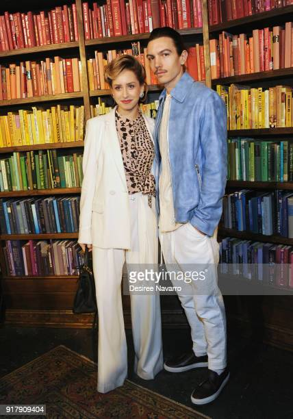 Jazmin Grace Grimaldi and Ian Mellencamp attend Alice Olivia by Stacey Bendet presentation during New York Fashion Week The Shows at Industria...