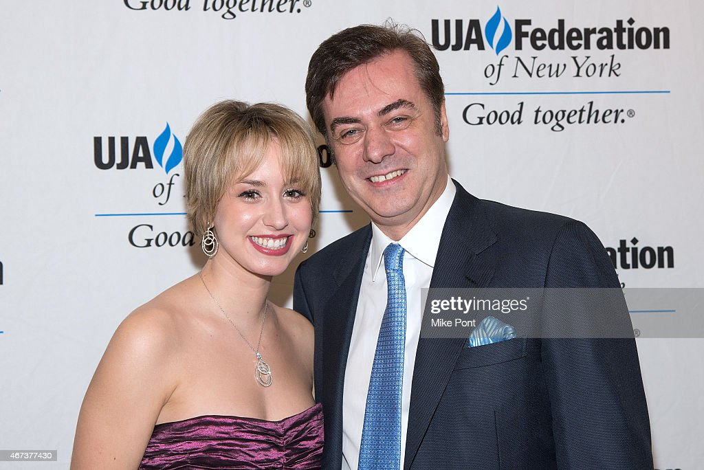 Jazmin Grace Grimaldi and Key Brand Entertainment owner and CEO John Gore attend the 2015 UJA Federation Of New York Excellence In Theater Award Dinner at The St Regis New York on March 23, 2015 in New York City.