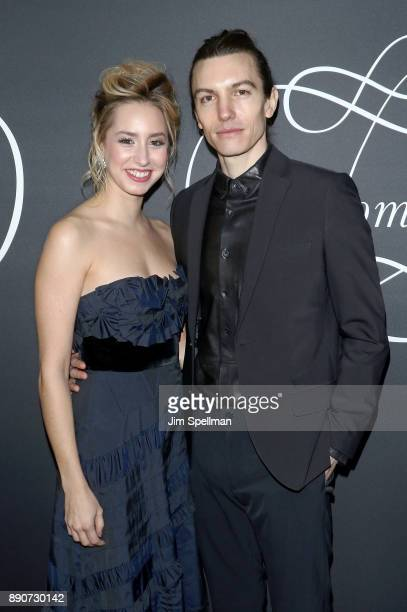 Jazmin Grace Grimaldi and musician Ian Mellencamp attend the 'Phantom Thread' New York premiere at Harold Pratt House on December 11 2017 in New York...