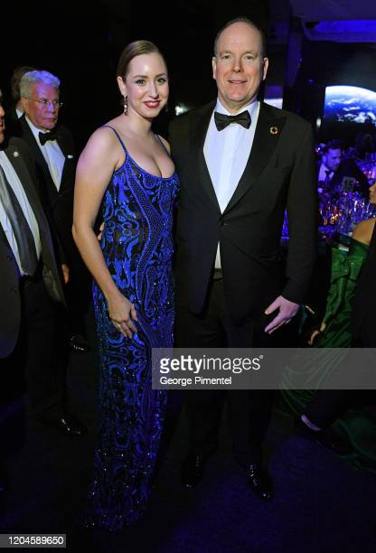Jazmin Grace Grimaldi and Prince Albert II of Monaco attends 2020 Hollywood For The Global Ocean Gala Honoring HSH Prince Albert II Of Monaco at...