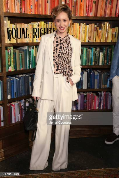 Jazmin Grace Grimaldi attends Alice Olivia by Stacey Bendet presentation during New York Fashion Week The Shows at Industria Studios on February 13...