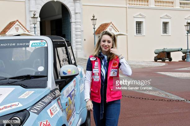 Jazmin Grace Grimaldi attends the 28th 'Rallye Aicha Des Gazelles Du Maroc' on March 17 2018 in Monaco Monaco