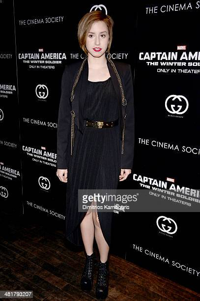 Jazmin Grace Grimaldi attends The Cinema Society Gucci Guilty screening of Marvel's 'Captain America The Winter Soldier' at Tribeca Grand Hotel on...