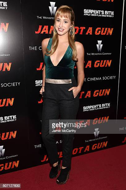 Jazmin Grace Grimaldi attends the New York premiere of 'Jane Got A Gun' hosted by The Weinstein Company with the Cinema Society and Serpent's Bite at...