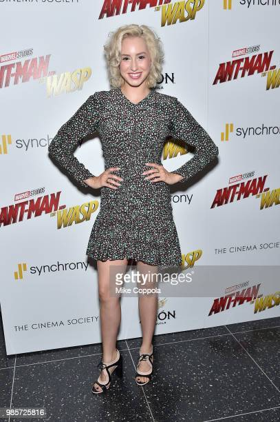 Jazmin Grace Grimaldi attends the screening of Marvel Studios' 'AntMan and The Wasp' hosted by The Cinema Society with Synchrony and Avion at Museum...
