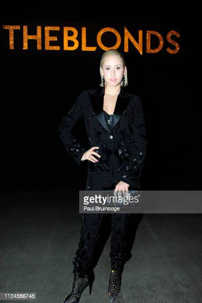 Jazmin Grace Grimaldi attends the The Blonds front row during New York Fashion Week The Shows at Gallery I at Spring Studios on February 12 2019 in...