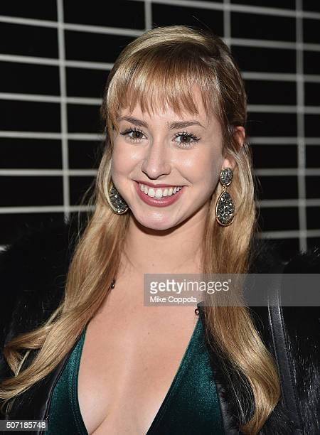 Jazmin Grace Grimaldi poses for a picture as Weinstein Company with The Cinema Society Serpent's Bite Host the New York premiere of 'Jane Got A Gun'...