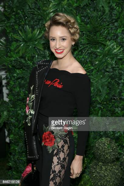 Jazmin Grimaldi attends Alice Olivia By Stacey Bendet fashion show during New York Fashion Week at Gallery 2 Skylight Clarkson Sq on September 12...
