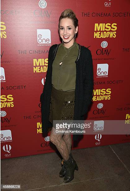 Jazmin Grimaldi attends The Cinema Society and Olay Host screening of Entertainment One's 'Miss Meadows' at Neuehouse on November 12 2014 in New York...