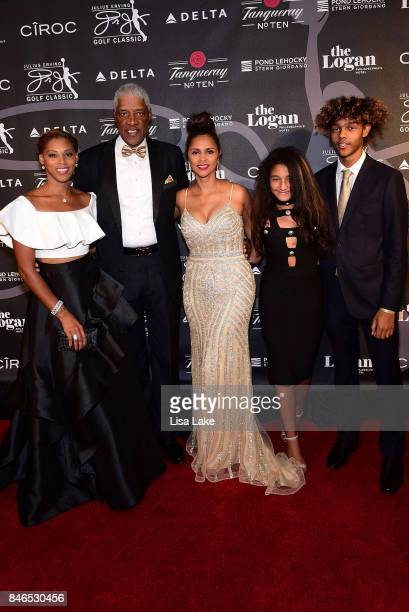 Jazmin Julius Dorys Julieta and Justin Erving attend the Erving Golf Classic Black Tie Ball sponsored by Delta Airlines Pond LeHocky Law with...