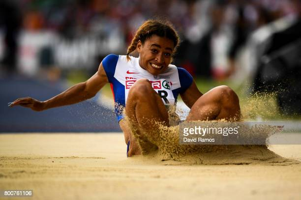 Jazmin Sawyers of Great Britain competes in the Women's Long Jump Final during day three of the European Athletics Team Championships at the Lille...
