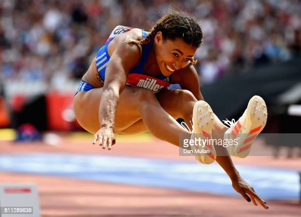 Jazmin Sawyers of Great Britain competes in the womens long jump during the Muller Anniversary Games at London Stadium on July 9 2017 in London...