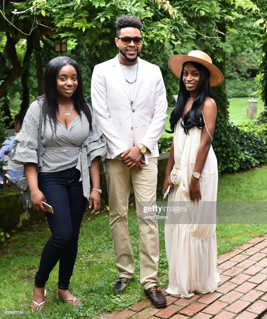 Jazmin Simmons, Tony Bowles and Ren Gray attend AVENUE on the Beach's Summer Soiree at The Baker House on August 12, 2017 in East Hampton, New York.