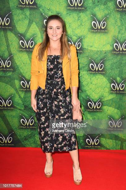 Jazmine Franks attends the Cirque Du Soleil's OVO Premiere at The Liverpool Echo Arena on August 16 2018 in Liverpool England