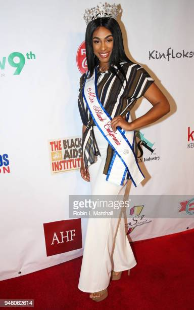 Jazmine Graham Miss Black California USA attends the 12th Annual Santee High School Fashion Show at Los Angeles Trade Technical College on April 13...