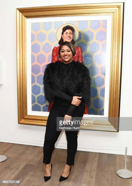 Jazmine Sullivan attends HBO's The HeLa Project Exhibit For The Immortal Life of Henrietta Lacks on April 6 2017 in New York City