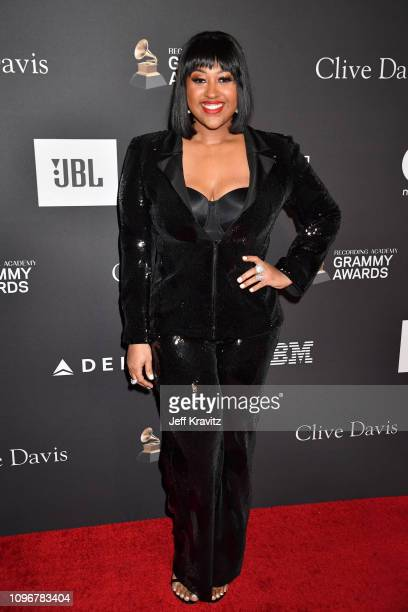 Jazmine Sullivan attends The Recording Academy And Clive Davis' 2019 PreGRAMMY Gala at The Beverly Hilton Hotel on February 9 2019 in Beverly Hills...