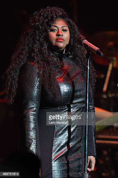 Jazmine Sullivan performs at Fillmore Miami Beach on April 14 2015 in Miami Beach Florida