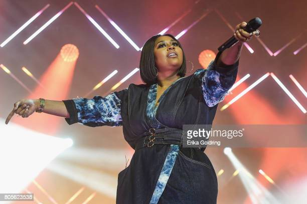 Jazmine Sullivan performs at the 2017 ESSENCE Festival Presented By Coca Cola at the MercedesBenz Superdome on July 1 2017 in New Orleans Louisiana